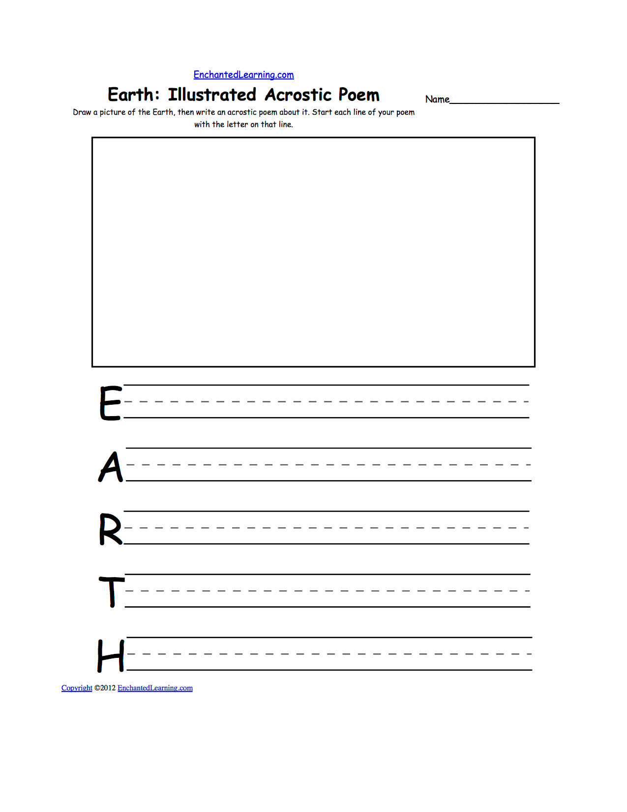 Holidays And Seasons Acrostic Poems Enchantedlearning