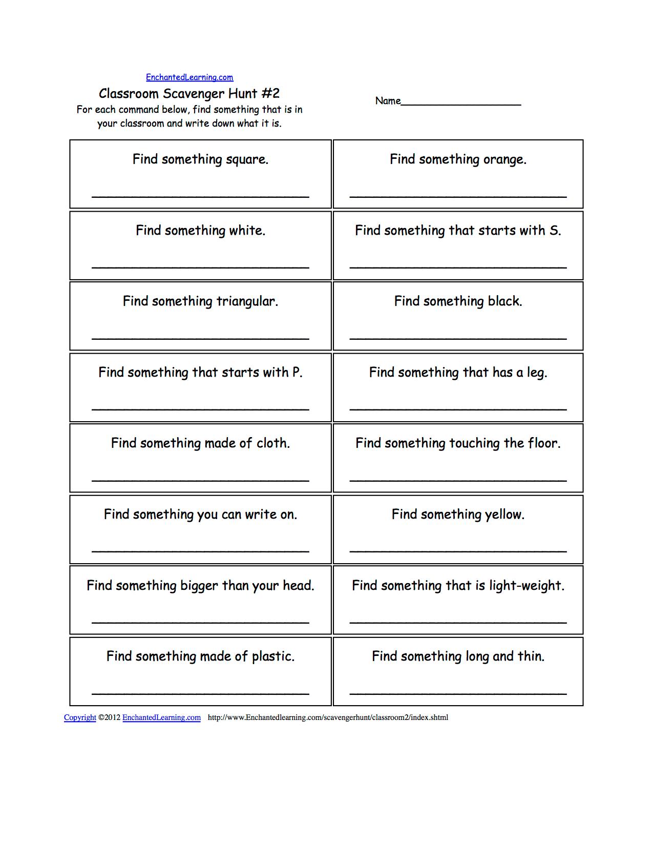 Writing Worksheets School Theme Page At Enchantedlearning