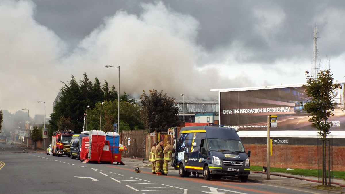Firefighters Tackle Huge Blaze In Bootle As Units Are Destroyed