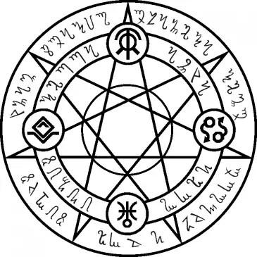 magic circle pentagram satanic