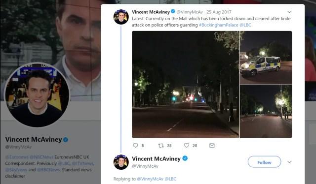 Vincent McAviney Westminster Hoax Crash Reporter