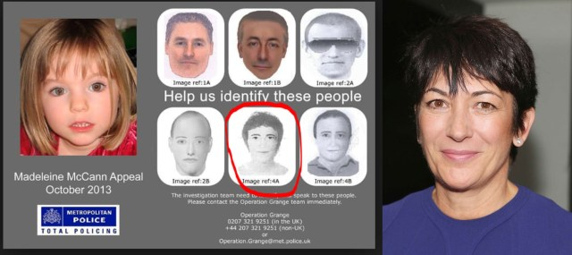 Ghislaine Maxwell and Madeleine McCann: A Call To Scotland Yard Ghislaine Maxwell Resemblance To Operation Grange E-Fit