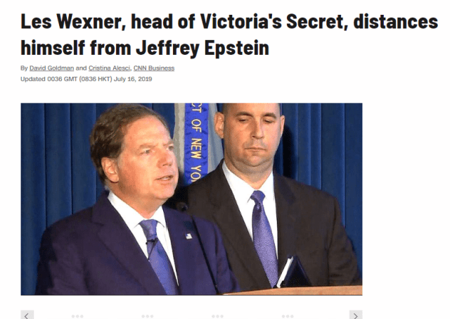 Jeffrey Epstein Victoria's Secret Connection - Cremation Diamonds Enchanted LifePath Les Wexner