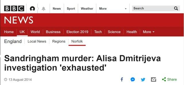 Sandringham murder: Alisa Dmitrijeva investigation 'exhausted'