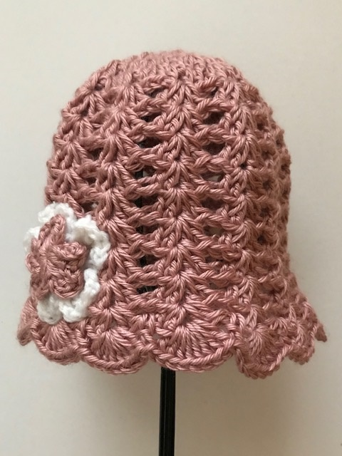 Pink Lacy Tulip Hat