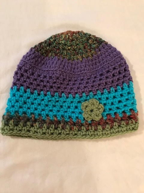 Slouch hat w/ Blue Stripe