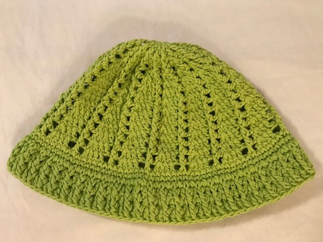 Lime Green Cloche Hat