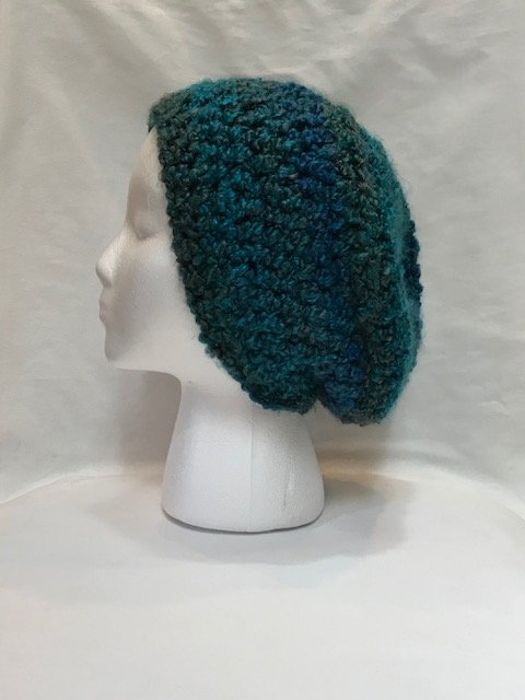 Blue Chunky Slouch Hat