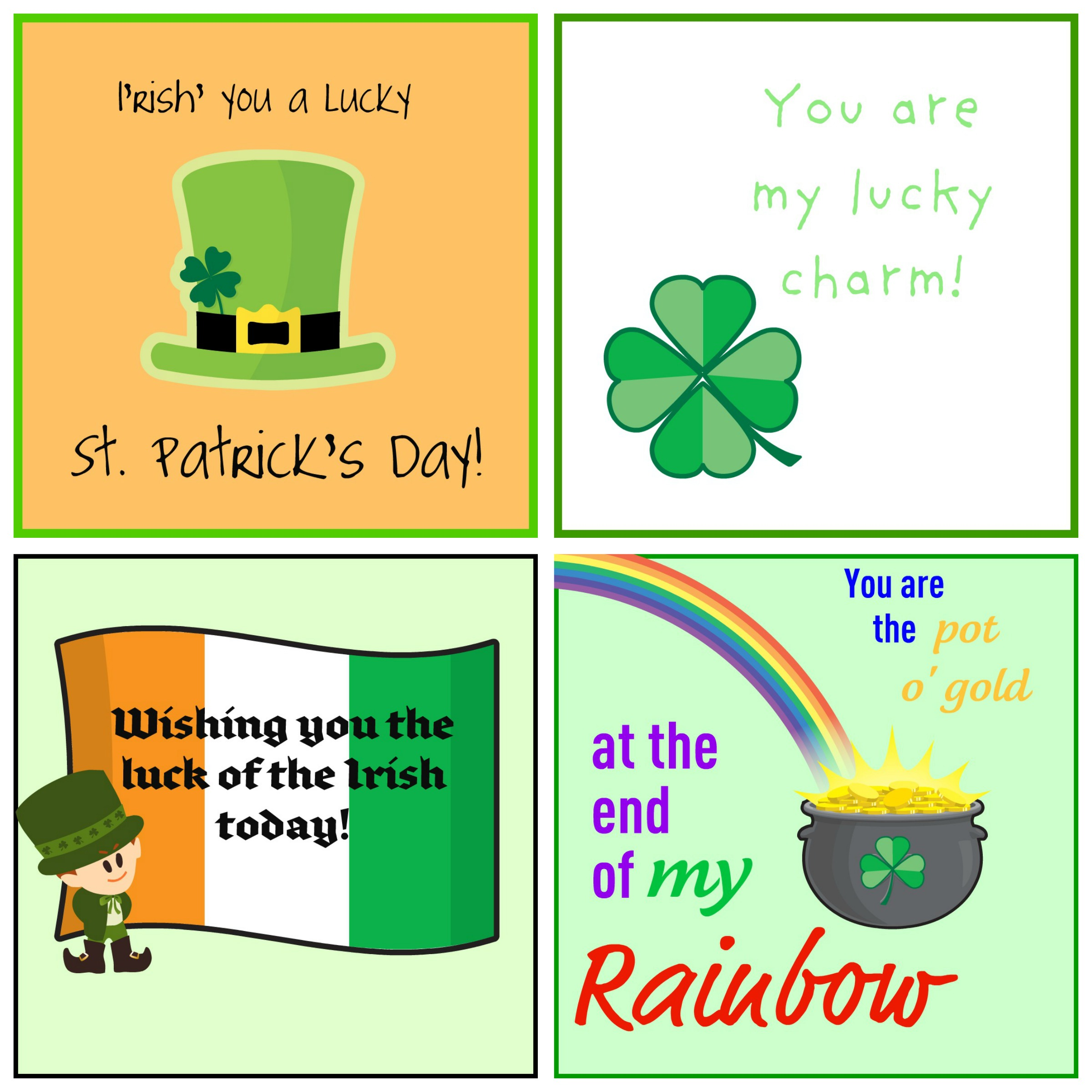 Free St Patrick S Day Lunch Notes Enchantedyankee