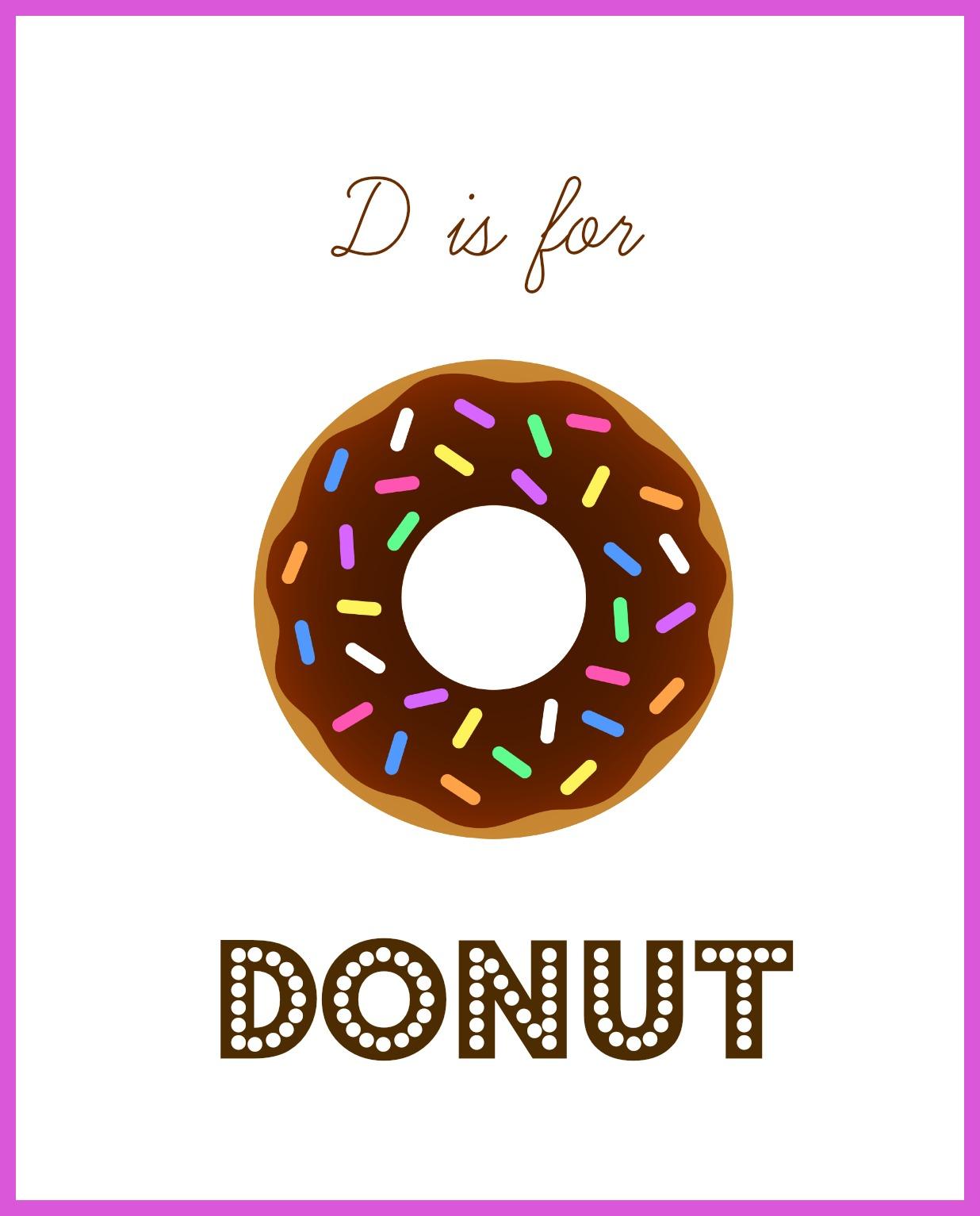 Letter D For Donuts Enchantedyankee