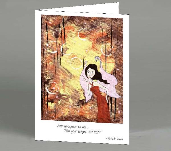 Fairy Bubble Note Card