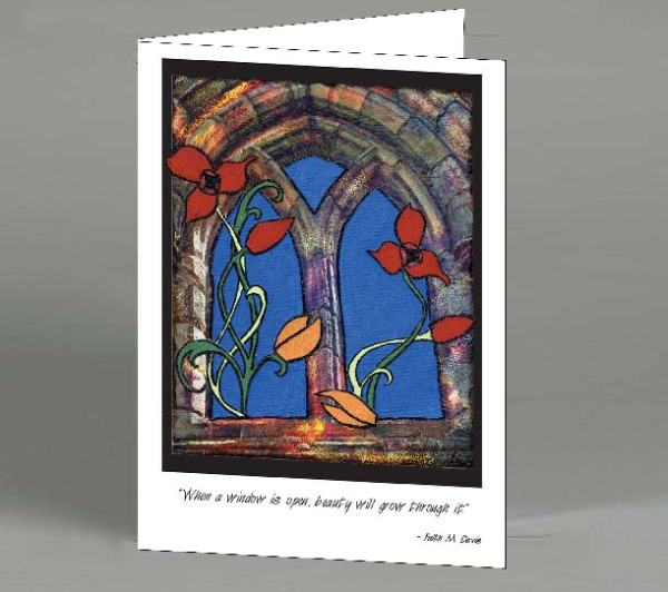 Window Flowers Note Card