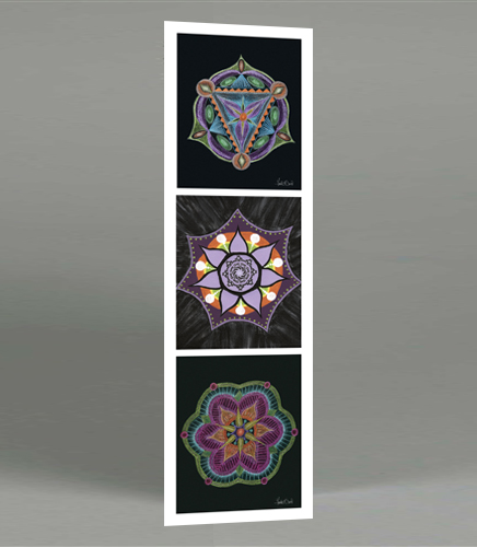 Three Mandalas Bookmark