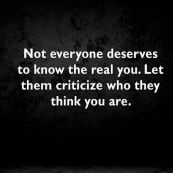 Let them criticize