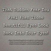that sudden fear