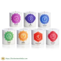 Ritual Candles 7 Chakras Set 3x3-Inch from Metaphysical Supply Store Brooklyn NY