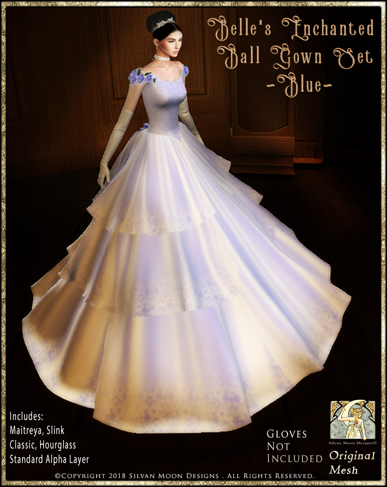Belle\'s Enchanted Ballgown Set-Blue_Promotional Art > Enchantment ...