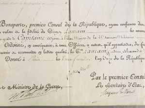 225. Détail de la signature BONAPARTE