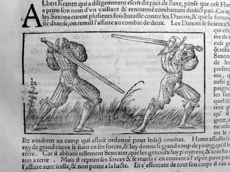 145. MÜNSTER. La cosmographie universelle. [Bâle, Henry Pierre, 1556]. Glaives