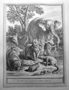 150. [OUDRY].— LA FONTAINE. Fables choisies. 1755. Animaux