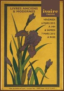 Couverture du catalogue de la vente des 6 et 7 mars 2015