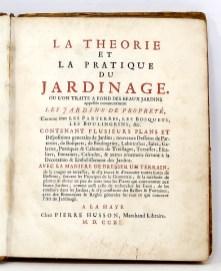 305. DEZALLIER D'ARGENVILLE. La Théorie et la pratique du jardinage.