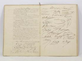 469. PHARMACIE. Documents imprimés et manuscrits. Acte fondateur de la Société de Prévoyance entre les pharmaciens du département de la Seine.
