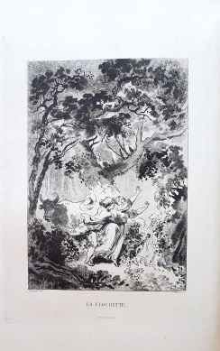 207. LA FONTAINE. Contes. Avec illustrations de Fragonard. Réimpression de l'édition de Didot, 1795. Revue et augmentée d'une Notice par M. Anatole de Montaiglon. Paris, J. Lemonnyer, 1883.