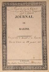 253. [MARINE]. Journal de bord de la Thétis