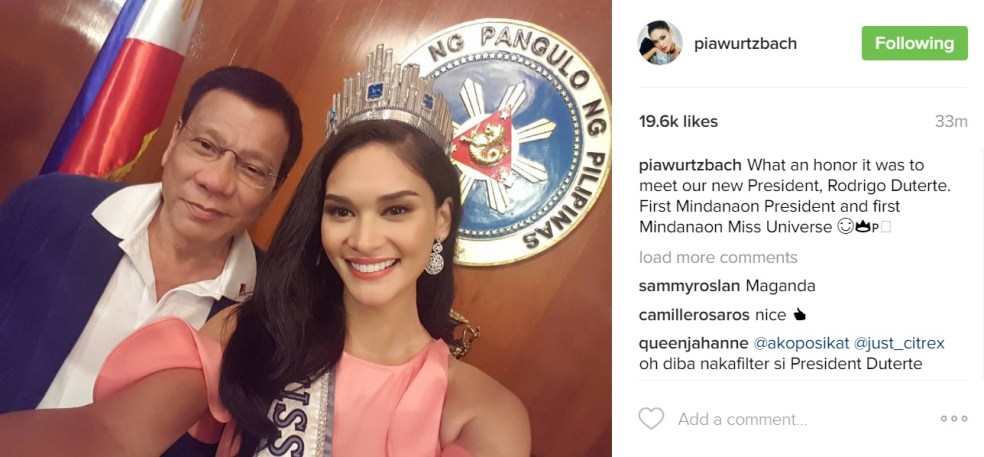 Pia and Digong