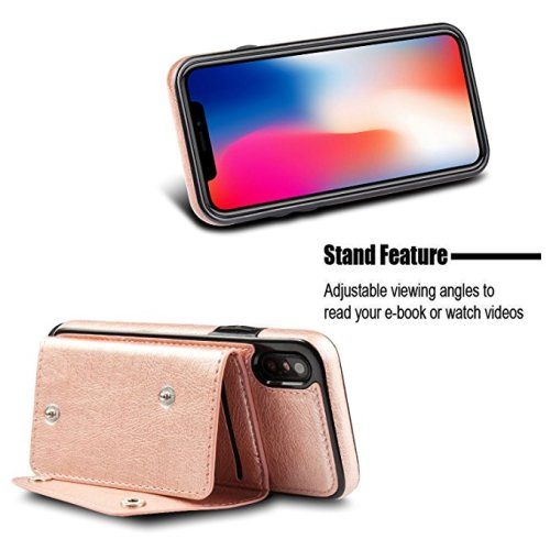 For iPhone X ,iPhone 10 Wallet Case, WenBelle Leather Case (1)