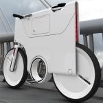 la ebiq en una calle, concepto de bicicletas electricas