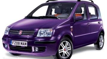 Imagen del Fiat Panda eléctrico de color lila