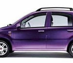 Imagen lateral del Fiat Panda eléctrico sobre fondo blanco