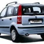 Imagen trasera del Fiat Panda eléctrico