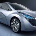 Imagen frontal-lateral del Hyundai Concept Blue-Will