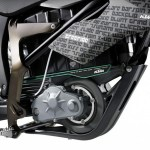 detalle del motor del la ktm freeride de supermotard
