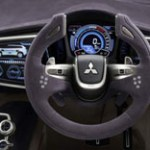Interior zona mandos del Mitsubishi concept px-miev