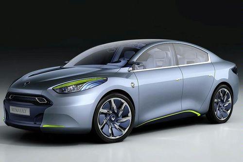 Imagen del Renault Fluence Zero Emission Concept con fondo negro
