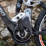 imagen del sistema de pedalier de la Mountain Wolf e-bike