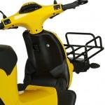 imagen del espacio del asiento y pies del Oxygen Cargo Scooter