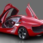 imagen del culo del deportivo electrico en versión concepto del Renault DeZir