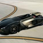 aquí apreciamos la silueta del Peugeot EX1