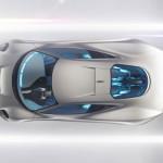 imagen superior del prototipo Jaguar C-X75
