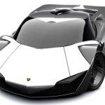 imagen frontal del Lamborghini Minotauro concept en color plateado