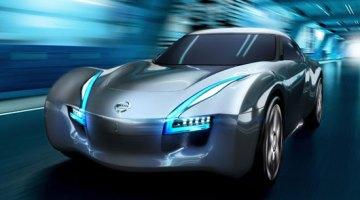 imagen trontal del Nissan Esflow, prototipo eléctrico