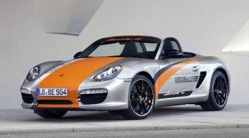 imágen donde vemos el Porsche Boxter eléctrico expuesto
