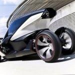 esta es una toma trasera del nuevo prototipo de biplaza eléctrico de Opel, el Lightweight.
