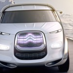 imagen frontal del monovolumen futurista Citroën Tubik Concept.
