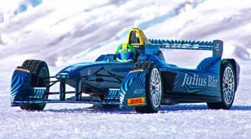 Lucas Di Grassi pilota un Fórmula E en el Ártico para el ProjectIce de la FIA